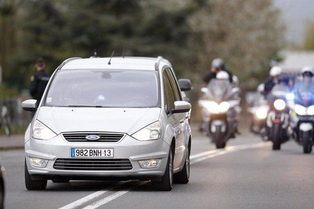 Supuesto convoy policial de Salah Abdeslam