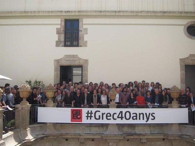Foto de familia por el 40 aniversario del Grec Festival