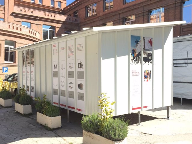 Una vivienda temporal de Cruz Roja Española