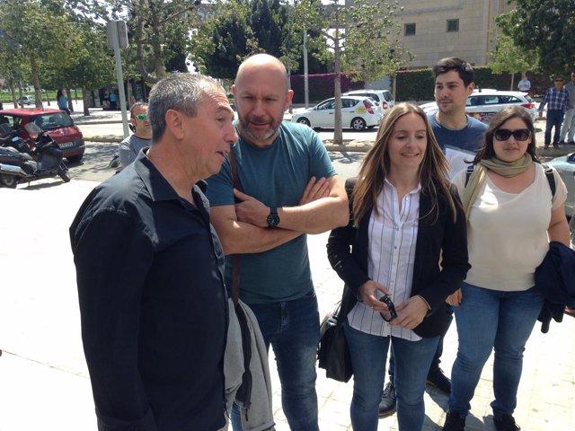 Joan Baldoví, Ricardo Sixto y Ángela Ballester presentan las listas