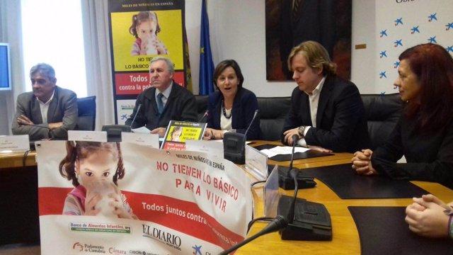 Presentación de la campaña contra la pobreza infantil en el Parlamento
