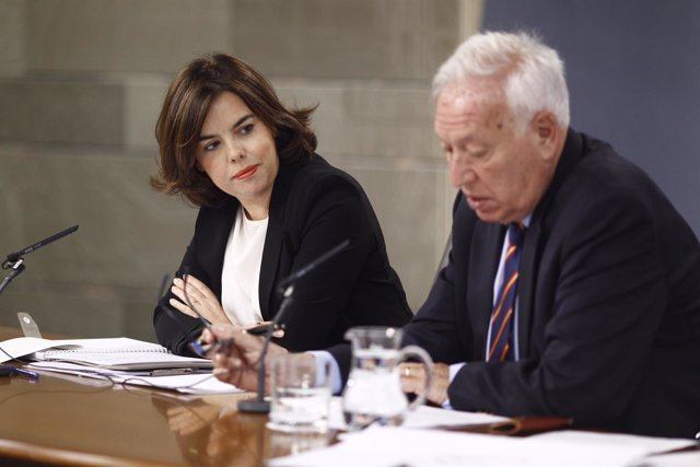 Soraya Sáenz de Santamaría y José Manuel García Margallo