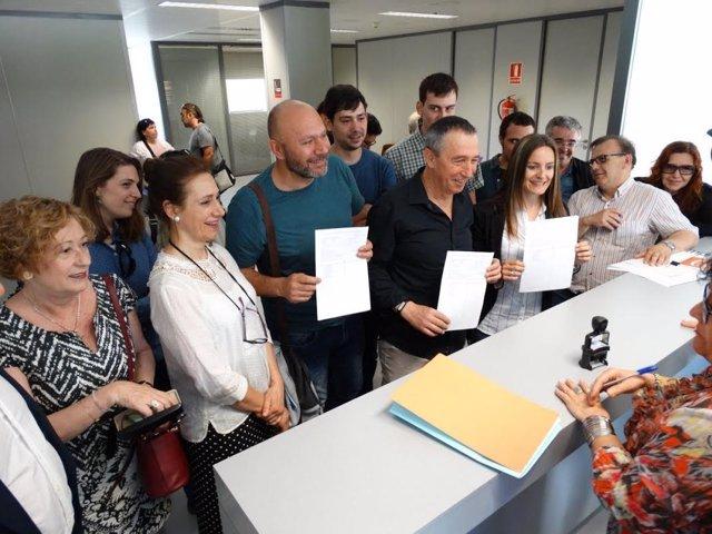 Baldoví, Sixto y Ballester presentan las listas de la coalición 'A la valenciana