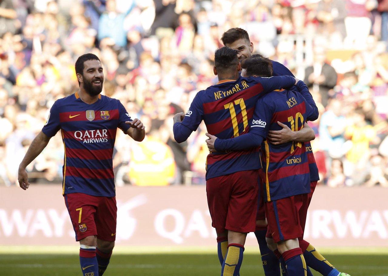 Barcelona Getafe Arda Turan Neymar Messi Piqué