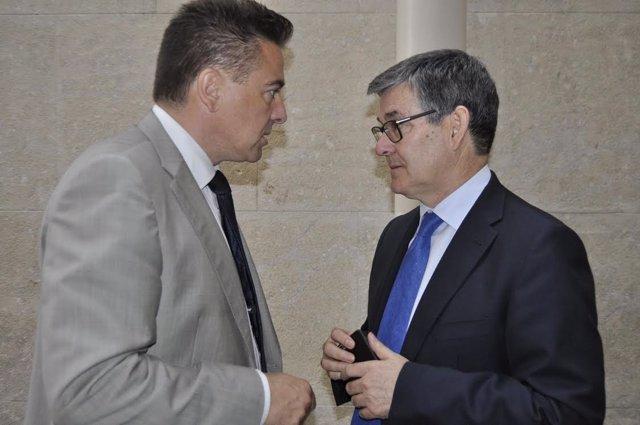 Miguel Ángel Lafuente y Vicente Guillén.