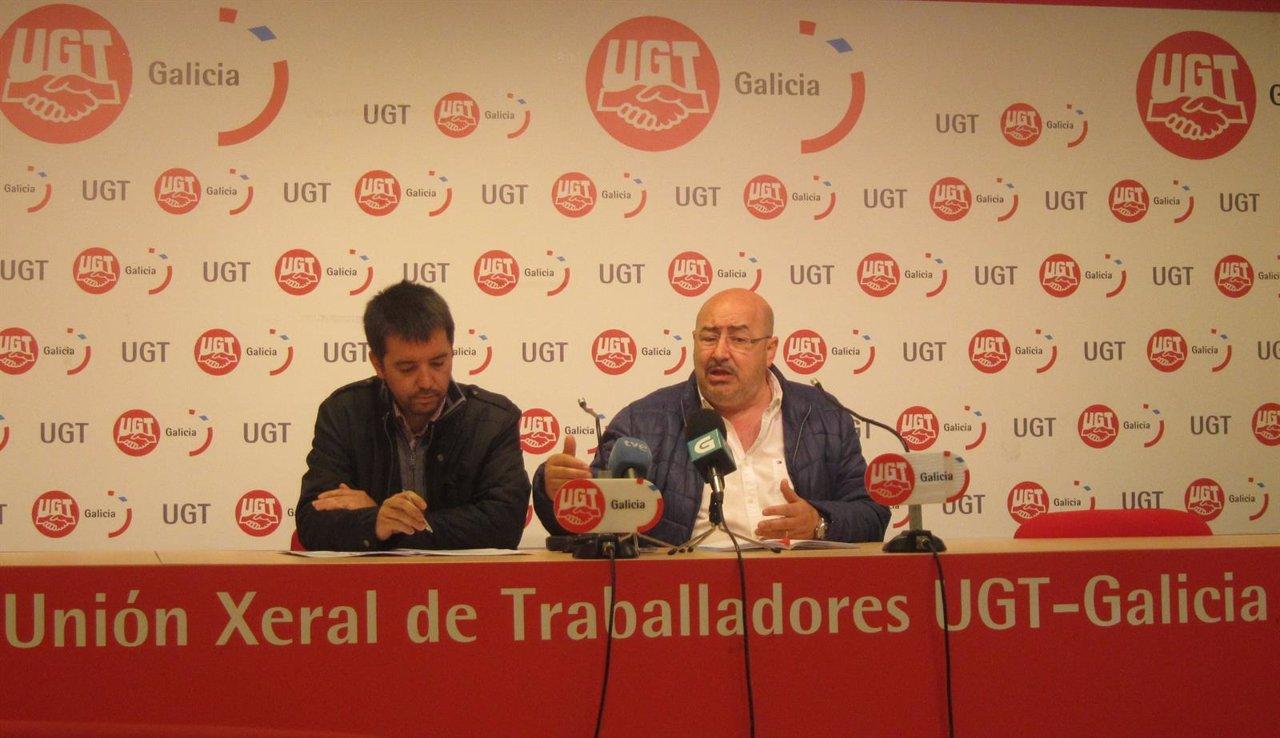 Oscar Pose y Roberto García en rueda de prensa de Unións Agrarias