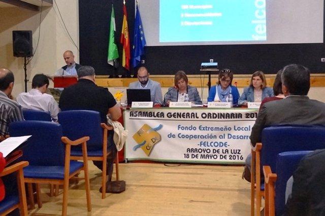 Asamblea de Felcode celebrada en Arroyo de la Luz (Cáceres)