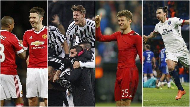 Manchester United, Juve, Bayern y PSG buscan la Copa este fin de semana