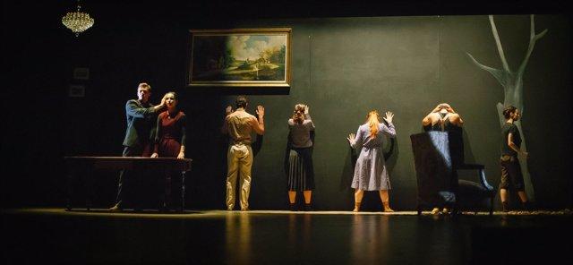 Un momento de la representación de 'Las 4 estaciones de Victoria'