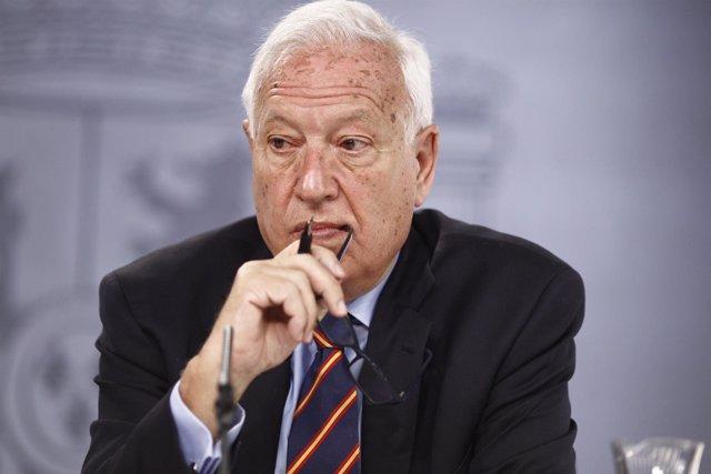 José Manuel García Margallo tras el Consejo de Ministros