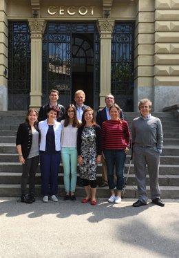 Representantes del proyecto DIST en la sede de Cecot, en Terrassa