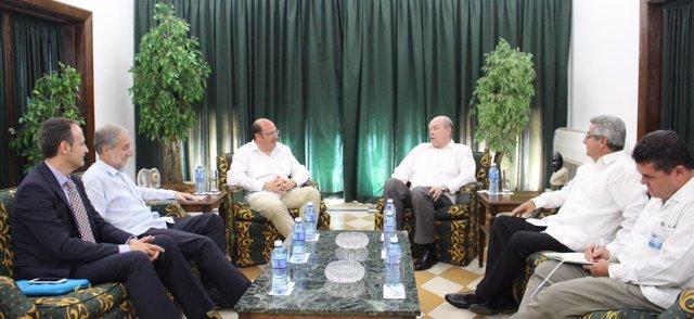 El presidente de la CARM se reúne con el ministro de Comercio Exterior