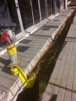 Obras de Endesa en el distrito de Sant Martí