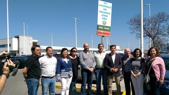 El alcalde de Ayamonte, Alberto Fernández, elimina zona ORA.
