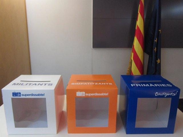 Urnas de votación para las primarias y el futuro de CDC