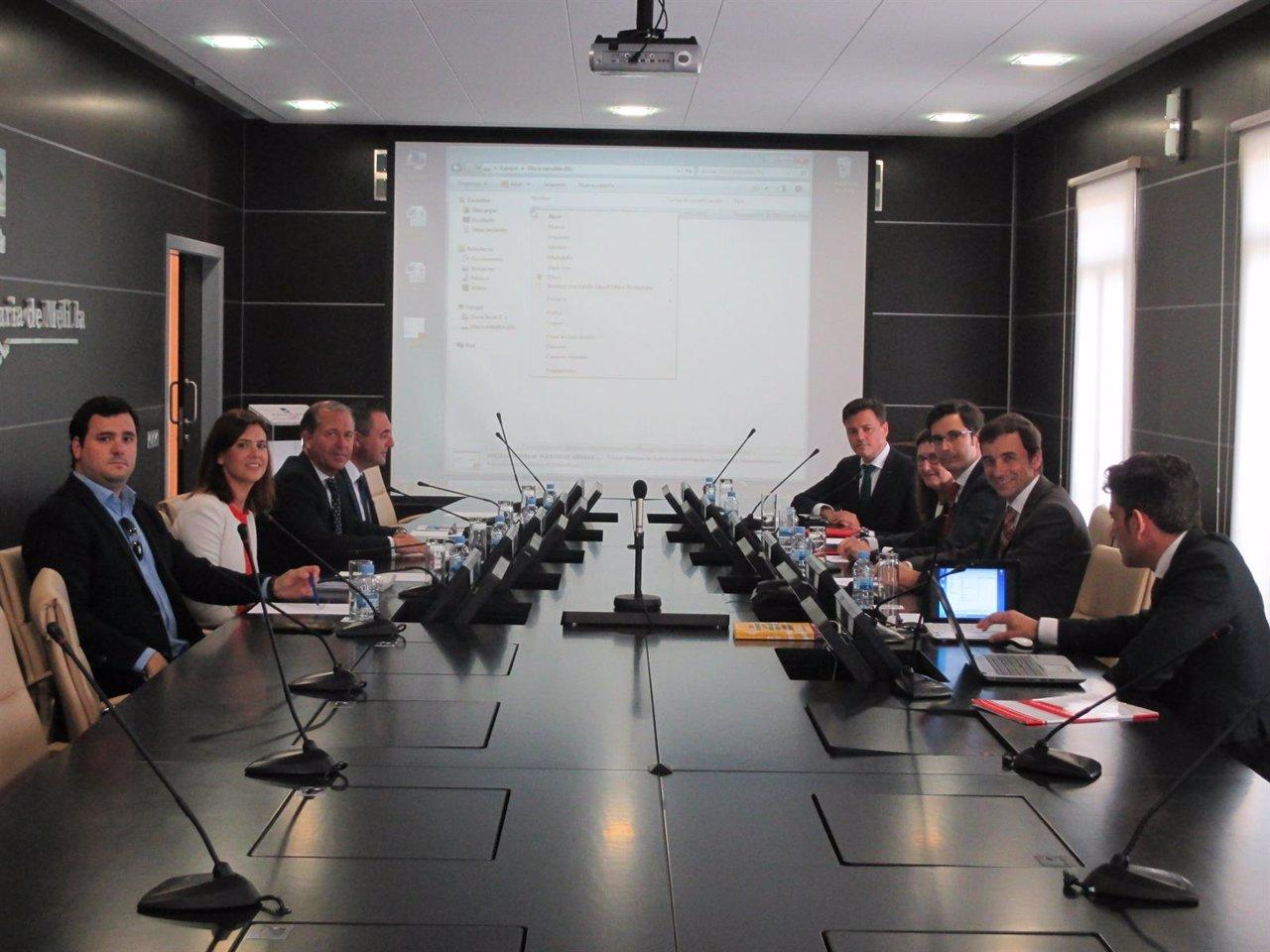 Reunión entre Transmediterranea, Puerto y Gobierno de Melilla