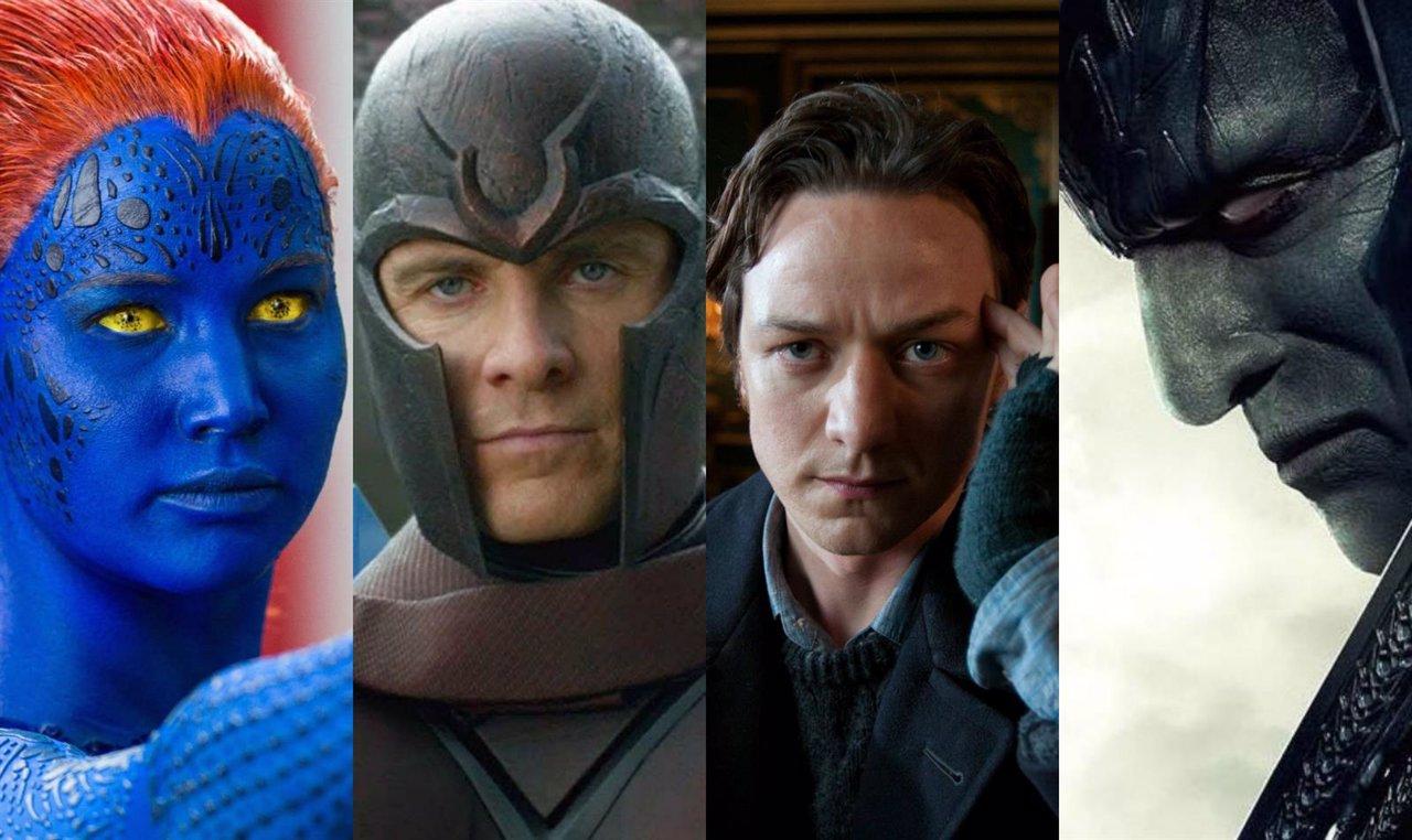Collage protagonistas X-Men Apocalypse