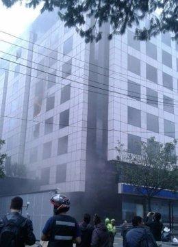 Incendio en la embajada venezolana en Bogotá