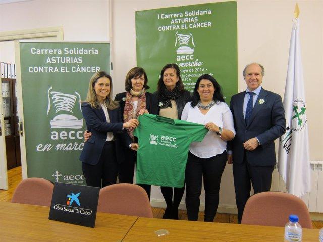 Presentación de la carrera solidaria Asturias Contra el Cáncer Aecc En Marcha