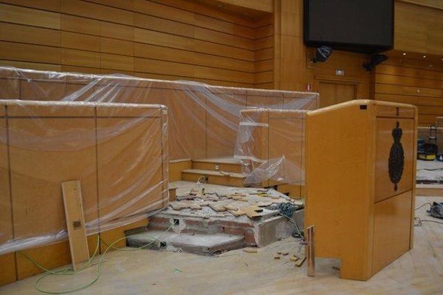 Obras en el hemiciclo del Senado para eliminar barreras arquitectónicas