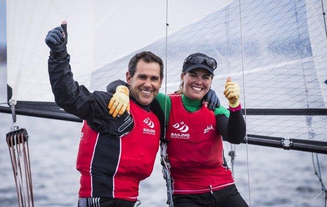 Fernando Echávarri y la canaria Tara Pacheco