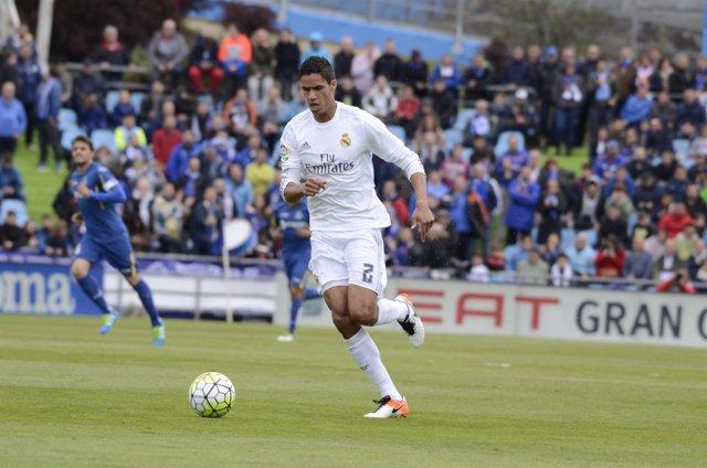 Varane en el Getafe C.F. S.A.D. - Real Madrid C.F.