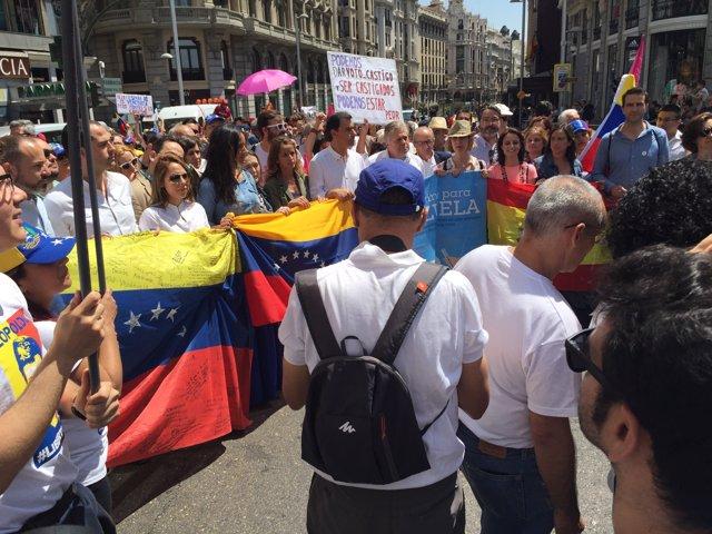 Manifestación por la libertad en Venezuela