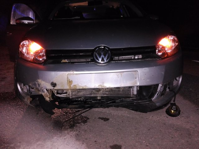 Daños en un coche por el atropello a un jabalí