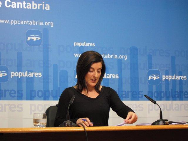 María José Sáenz de Buruaga, secretaria general del PP cántabro