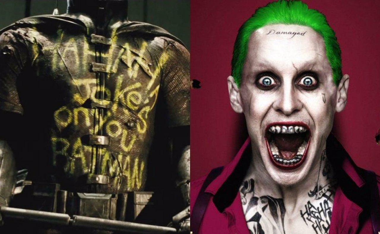 Collage con el Joker y el traje de Robin