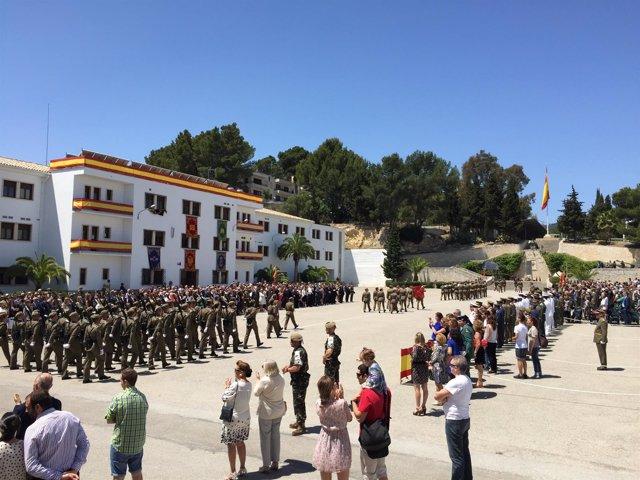Jura de bandera de personal civil en Palma