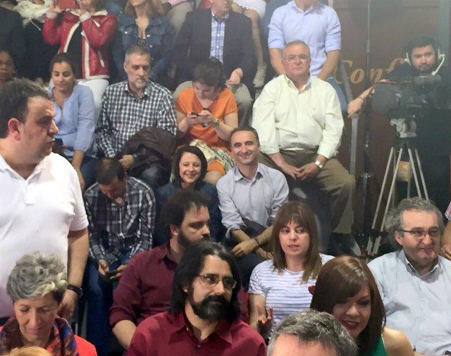 El candidato socialista al Congreso, Pere Joan Pons, en un acto en Madrid