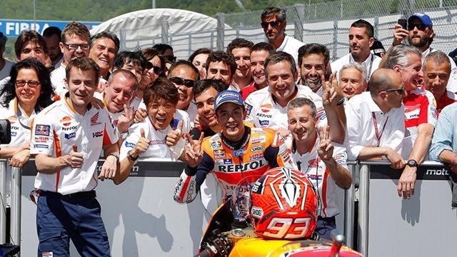El piloto español de MotoGP Marc Márquez (