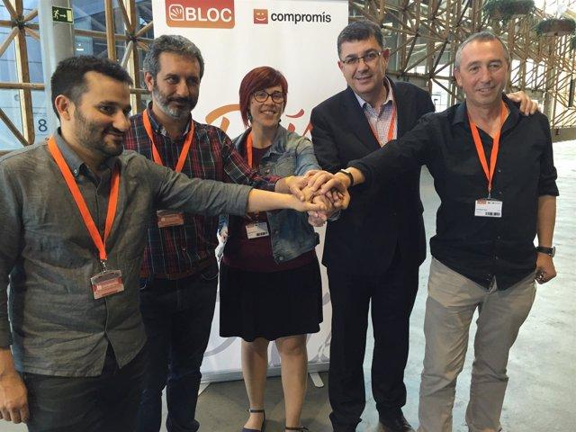 Marzà, Carbonell, Micó, Morera y Baldoví en el VII Congreso Nacional del Bloc