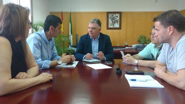 Reunión del delegado de la Junta con el secretario provincial de UGT