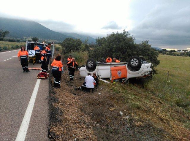 Accidente de tráfico en Zorita, con dos fallecidos