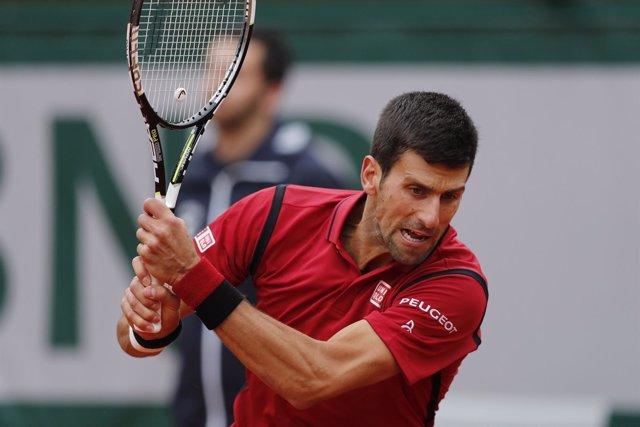 El tenista serbio Novak Djokovic en Roland Garros