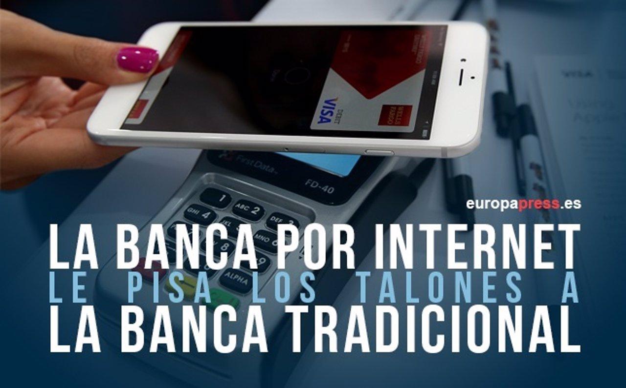 La banca por Internet le pisao los talones a la banca tradicional