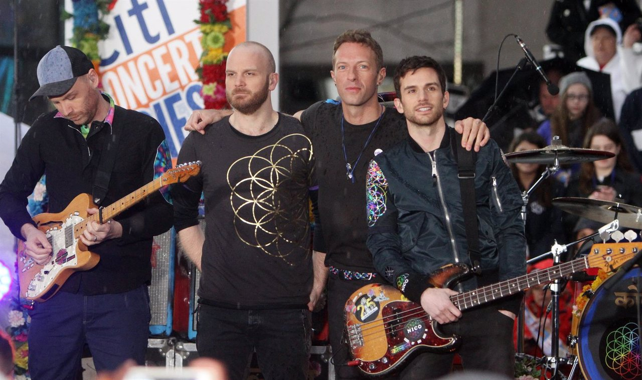 Coldplay performs at NBC's Today Show Citi Concert Series