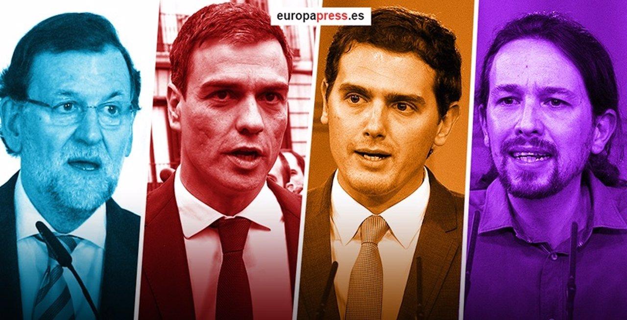 Debate a cuatro de Rajoy, Pedro Sánchez, Rivera y Pablo Iglesias
