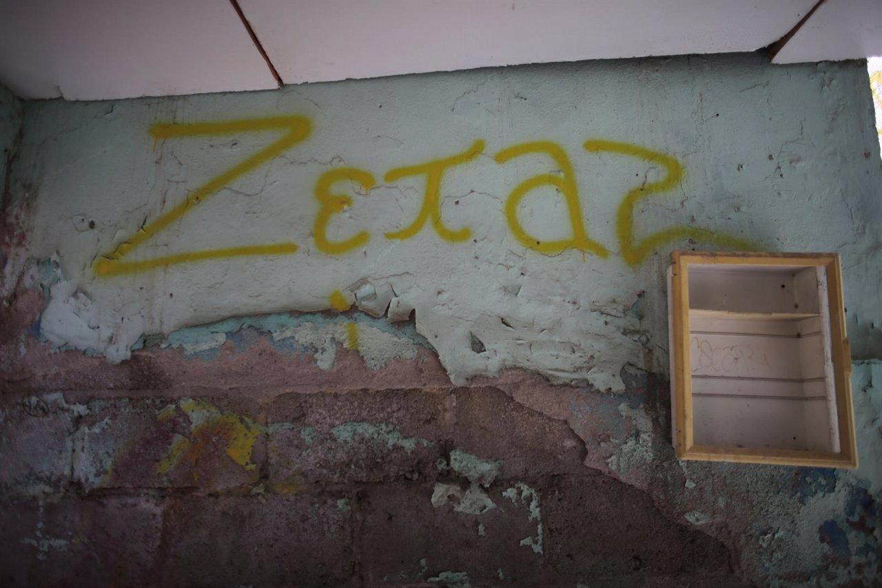 Un grafiti de la oragnización criminal de Los Zetas