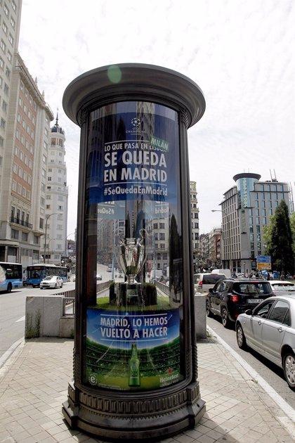 Heineken 'pinta de verde' Madrid para celebrar la llegada de dos equipos madrileños a la final de la Champions