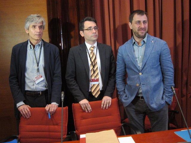 Josep Maria Argimon, David Elvira y Toni Comín