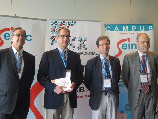 Jordi Vila, Rafael Cantón, Jose Miguel Cisneros, Josep Maria Miró (Seimc)