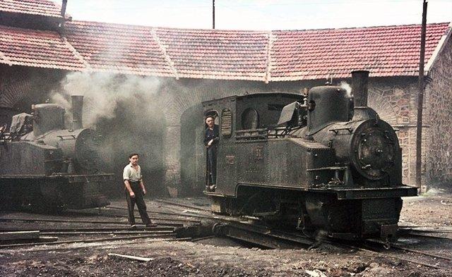 Una de las locomotoras que transportaba carbón.