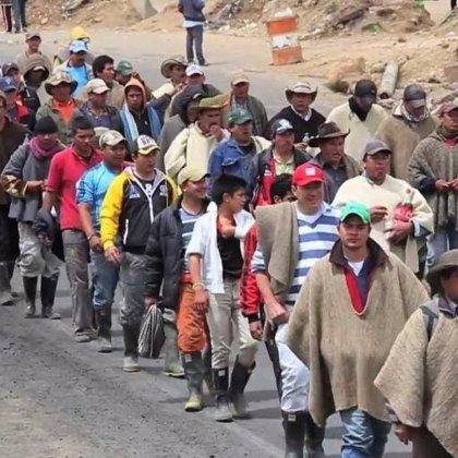 Campesinos colombianos inician un paro agrario para pedir mejoras en sus condiciones laborales