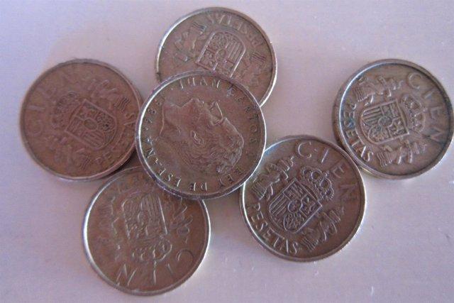 Los españoles conservan 1.648 millones de euros en billetes y monedas de pesetas