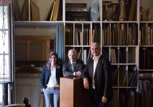 Artur Ramón Picas junto a sus hijos Mònica Ramón y Artur Ramón