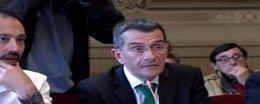 Imagen del Pleno de Torrelavega del concejal de Hacienda, Pedro Pérez Noriega