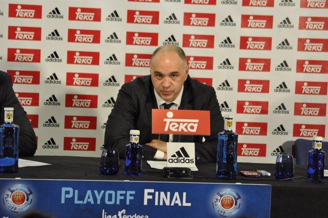 Pablo Laso, rueda de prensa, Real Madrid baloncesto vs Barcelona